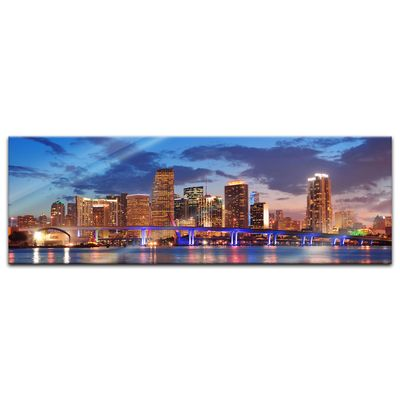 Glasbild - Miami Night Scene - USA – Bild 3