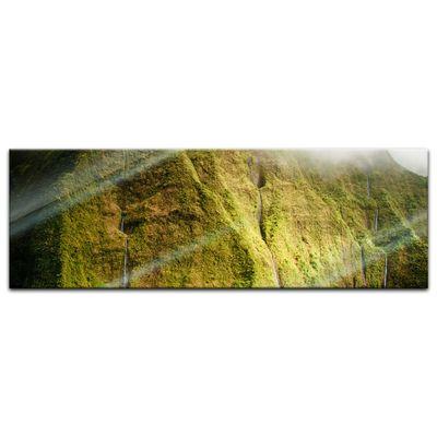 Glasbild - Mt. Waialeale Wasserfall Kauai – Bild 3