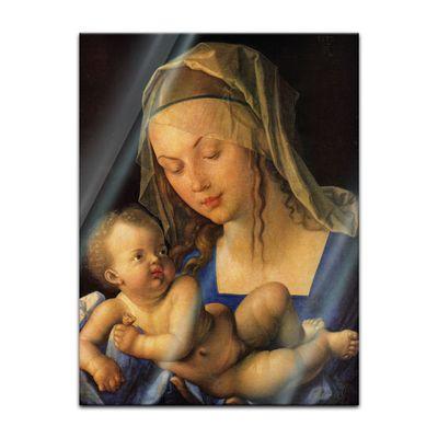 Glasbild Albrecht Dürer - Alte Meister - Maria mit der Birnenschnitte  – Bild 2