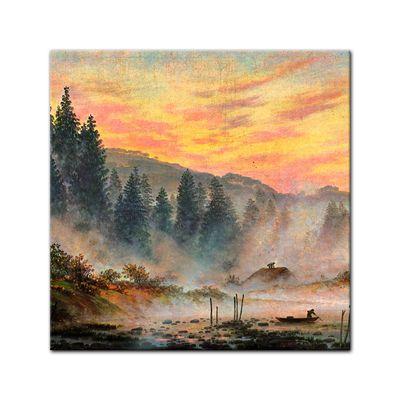 Glasbild Caspar David Friedrich - Alte Meister - Der Morgen  – Bild 1