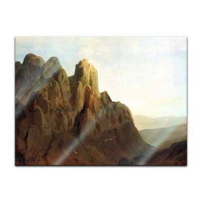Glasbild Carl Spitzweg - Alte Meister - Morgengrauen im Karwedel  – Bild 2