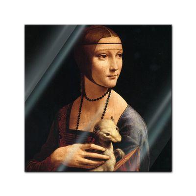 Glasbild Leonardo da Vinci - Alte Meister - Die Dame mit dem Hermelin  – Bild 1