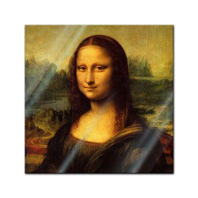 Glasbild Leonardo da Vinci - Alte Meister - Mona Lisa  – Bild 1