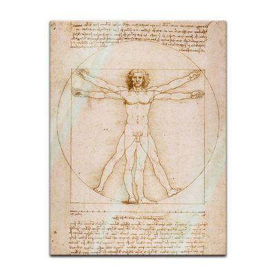 Glasbild Leonardo da Vinci - Alte Meister - Vitruvianischer Mensch  – Bild 2