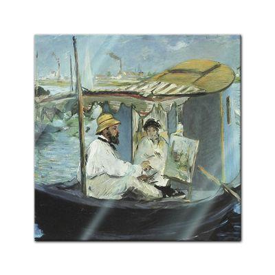 Glasbild Edouard Manet - Alte Meister - Die Barke  – Bild 1