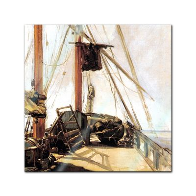 Glasbild Edouard Manet - Alte Meister - Schiffsdeck  – Bild 1