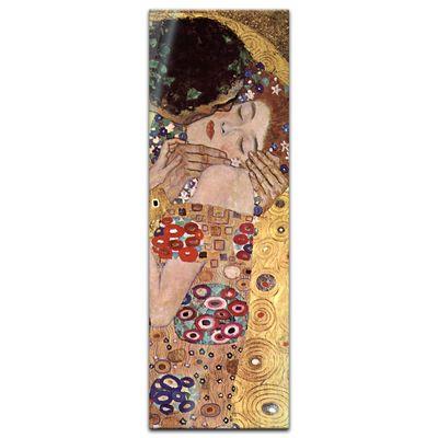 Glasbild Gustav Klimt - Alte Meister - Der Kuss  – Bild 3
