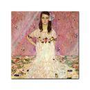 Glasbild Gustav Klimt - Alte Meister - Portrait der Eugenia Primavesi  001