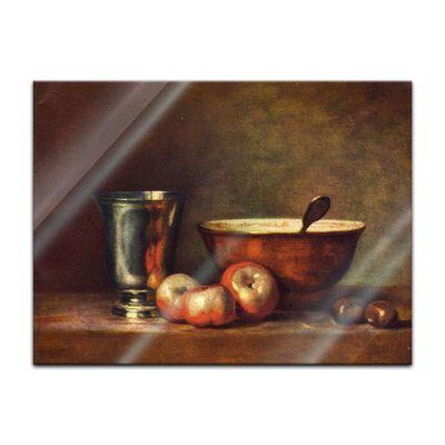 Glasbild Jean Siméon Chardin - Alte Meister - Der Silberbecher  – Bild 2