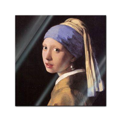 Glasbild Jan Vermeer - Alte Meister - Das Mädchen mit dem Perlenohrgehänge  – Bild 1