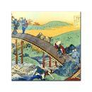 Glasbild Katsushika Hokusai - Alte Meister - Ariwara no Narihira Ason  001