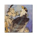 Glasbild Katsushika Hokusai - Alte Meister - Falke und Kirschblüten  001