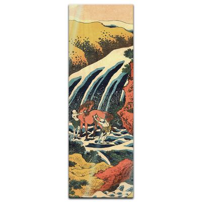 Glasbild Katsushika Hokusai - Alte Meister - Yoshitsune Umarai Wasserfall  – Bild 3