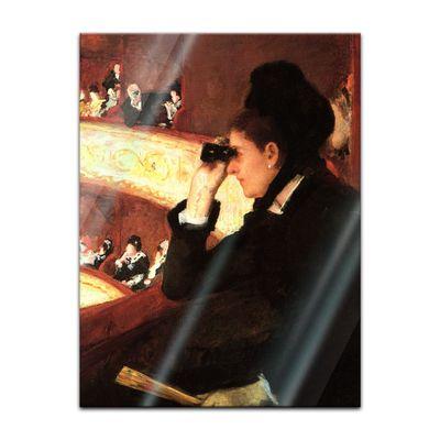 Glasbild Mary Cassatt - Alte Meister - In der Oper  – Bild 2