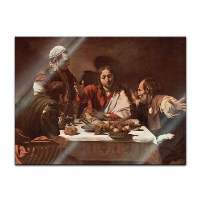 Glasbild Caravaggio - Alte Meister - Das Abendmahl in Emmaus  – Bild 2