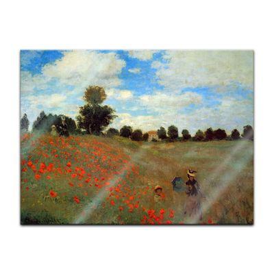 Glasbild Claude Monet - Alte Meister - Mohnfeld bei Argenteuil  – Bild 2