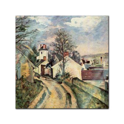 Glasbild Paul Cézanne - Alte Meister - Das Haus von Dr. Gachet  – Bild 1