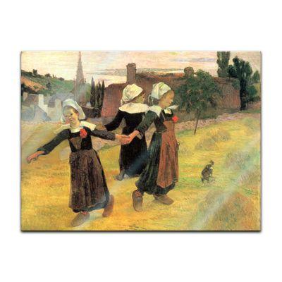 Glasbild Paul Gauguin - Alte Meister - Der Reigen der kleinen Bretonninen  – Bild 2