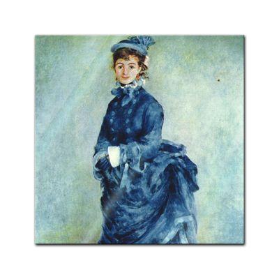 Glasbild Pierre-Auguste Renoir - Alte Meister - Die Pariserin  – Bild 1