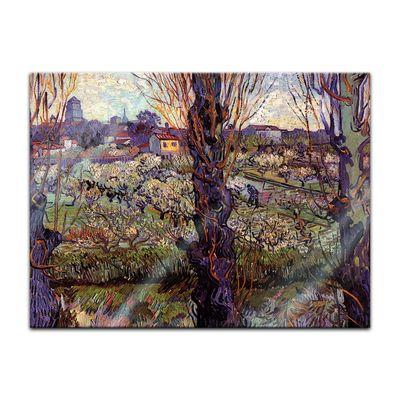 Glasbild Vincent van Gogh - Alte Meister - Blick auf Arles  – Bild 2