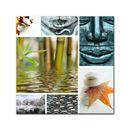 Glasbild - Buddha Collage 001