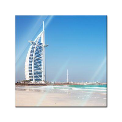 Glasbild - Burj al Arab Hotel in Dubai II – Bild 1