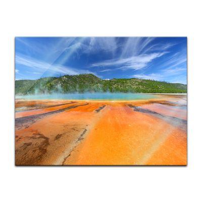 Glasbild - Grand Prismatic Spring Yellowstone – Bild 2