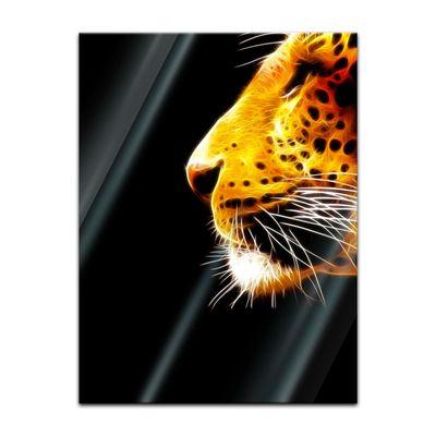 Glasbild - Leopard Neon – Bild 3