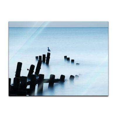 Glasbild - Moonlit Sea, Norfolk – Bild 2