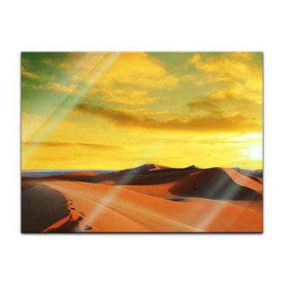 Glasbild - Sahara - Wüste in Afrika II – Bild 2