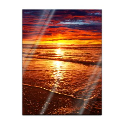 Glasbild - Sonnenuntergang – Bild 3