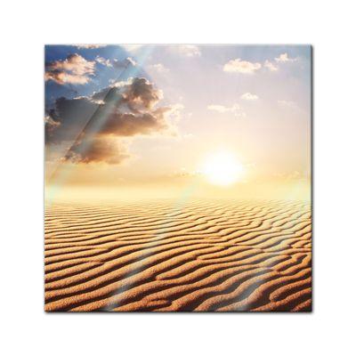Glasbild - Sahara Wüste in Afrika – Bild 1