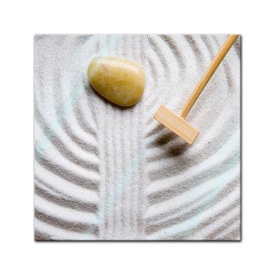 Glasbild - Zen Steine – Bild 1