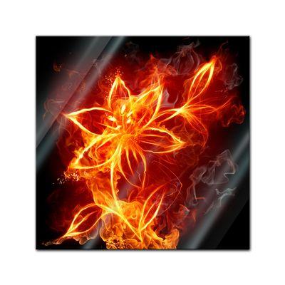Glasbild - Feuerlilie – Bild 1