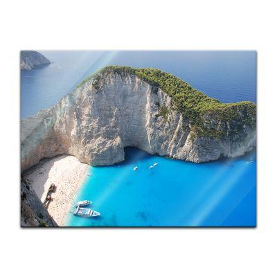 Glasbild - Schiffbruch auf Zakynthos - Griechenland – Bild 2