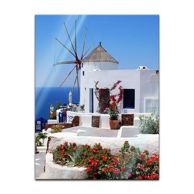 Glasbild - Griechische Mühle – Bild 5