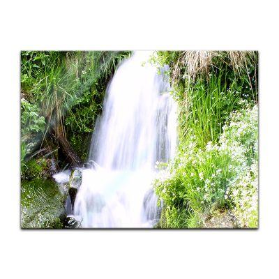 Glasbild - Kleiner Wasserfall – Bild 2