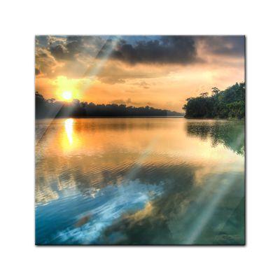 Glasbild - Morgenreflektion – Bild 1