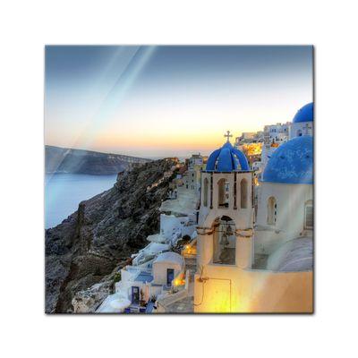 Glasbild - Santorini - Griechenland – Bild 1