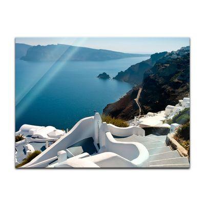 Glasbild - Santorini Treppe - Griechenland – Bild 4