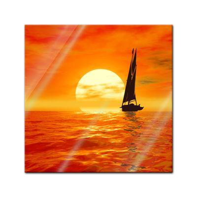 Glasbild - Segelboot – Bild 1