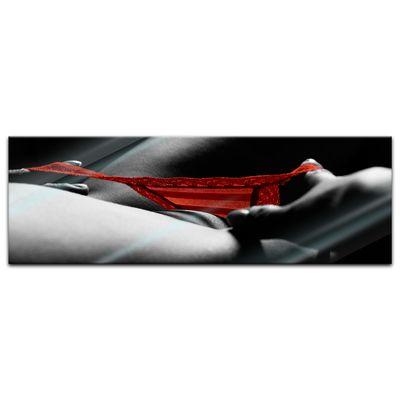 Glasbild - Roter Slip – Bild 6