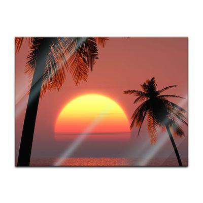Glasbild - Sonnenuntergang auf Ibiza – Bild 2