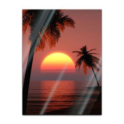 Glasbild - Sonnenuntergang auf Ibiza – Bild 3