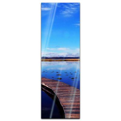 Glasbild - Peaceful lake – Bild 7