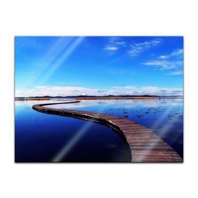 Glasbild - Peaceful lake – Bild 2