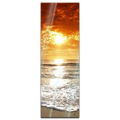 Glasbild - Sonnenuntergang in Korsika – Bild 7