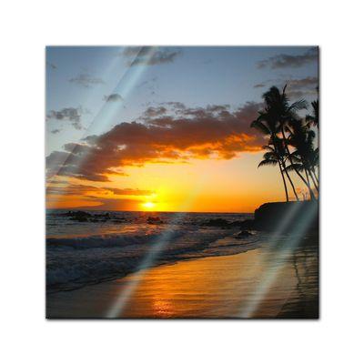 Glasbild - Makena beach - Hawaii USA – Bild 1