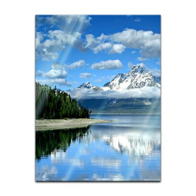 Glasbild - Berglandschaft am Lake Jackson - Texas USA – Bild 3