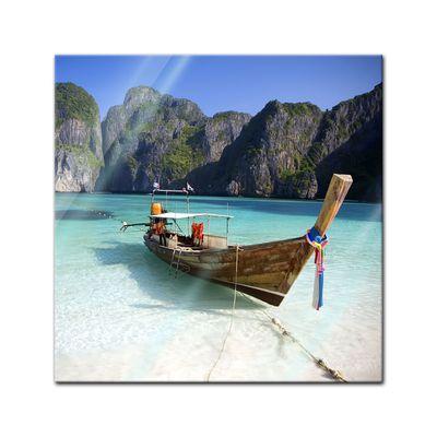 Glasbild - Maya Bay Koh Phi Phi Ley - Thailand – Bild 1
